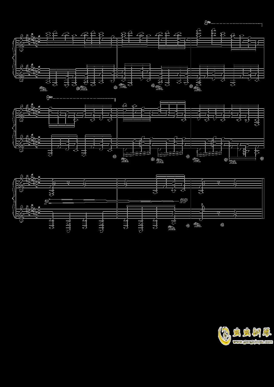 戈多夫斯基练习曲OP25NO9-1钢琴谱 第4页
