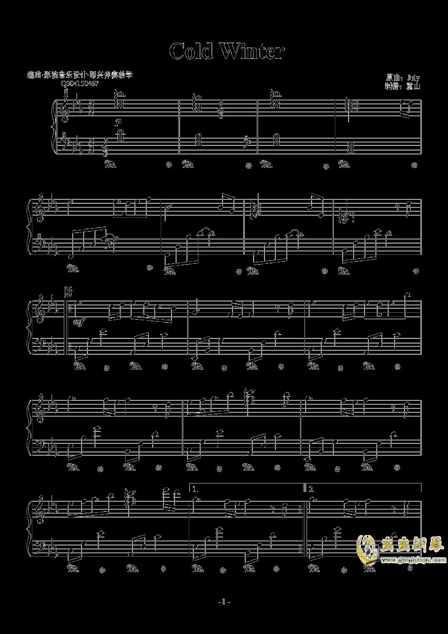 Cold Winter钢琴谱 第1页