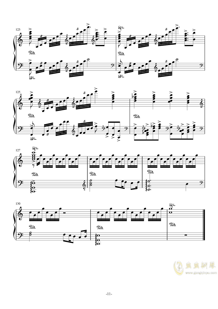 My Dearest钢琴谱 第11页