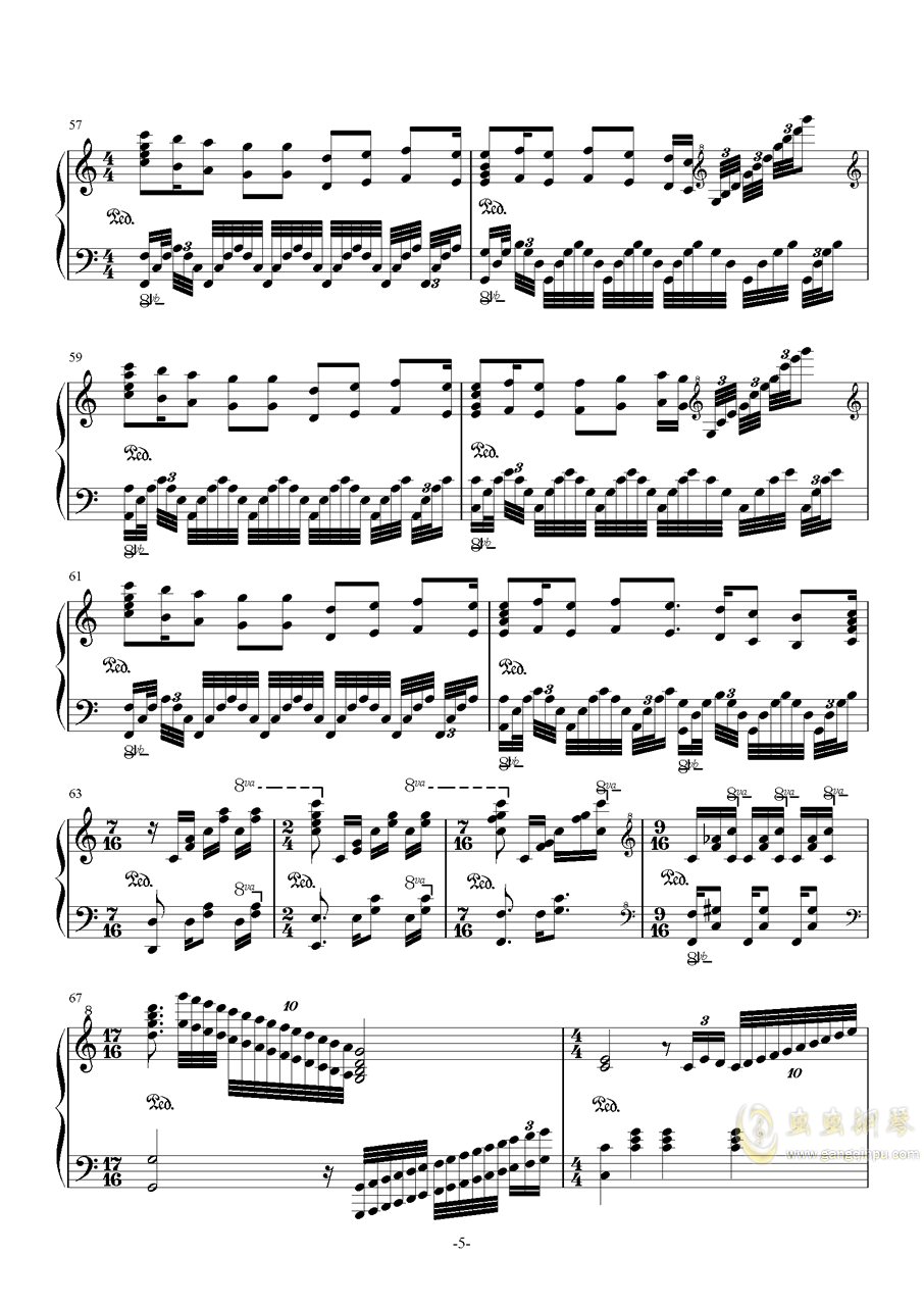 My Dearest钢琴谱 第5页