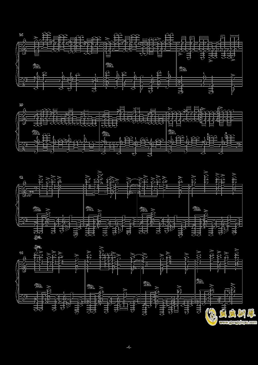 狂妄之徒钢琴谱 第4页