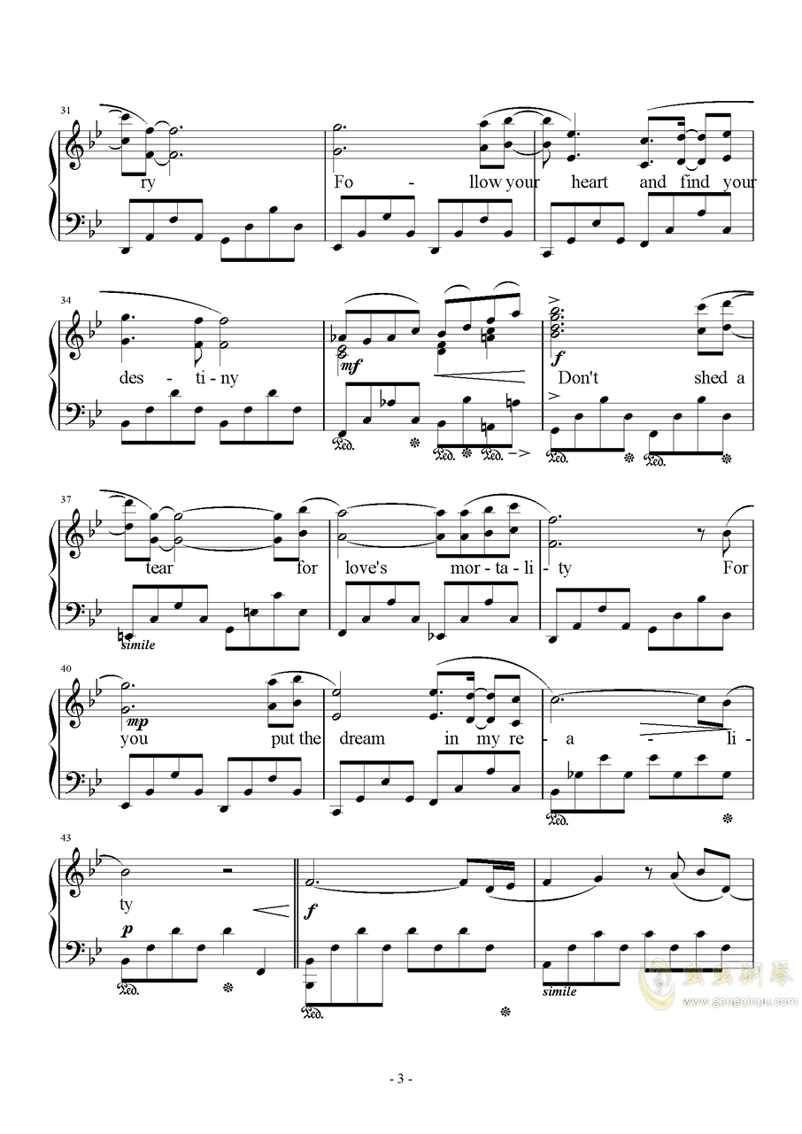 Kiss Me Good-Bye钢琴谱 第3页