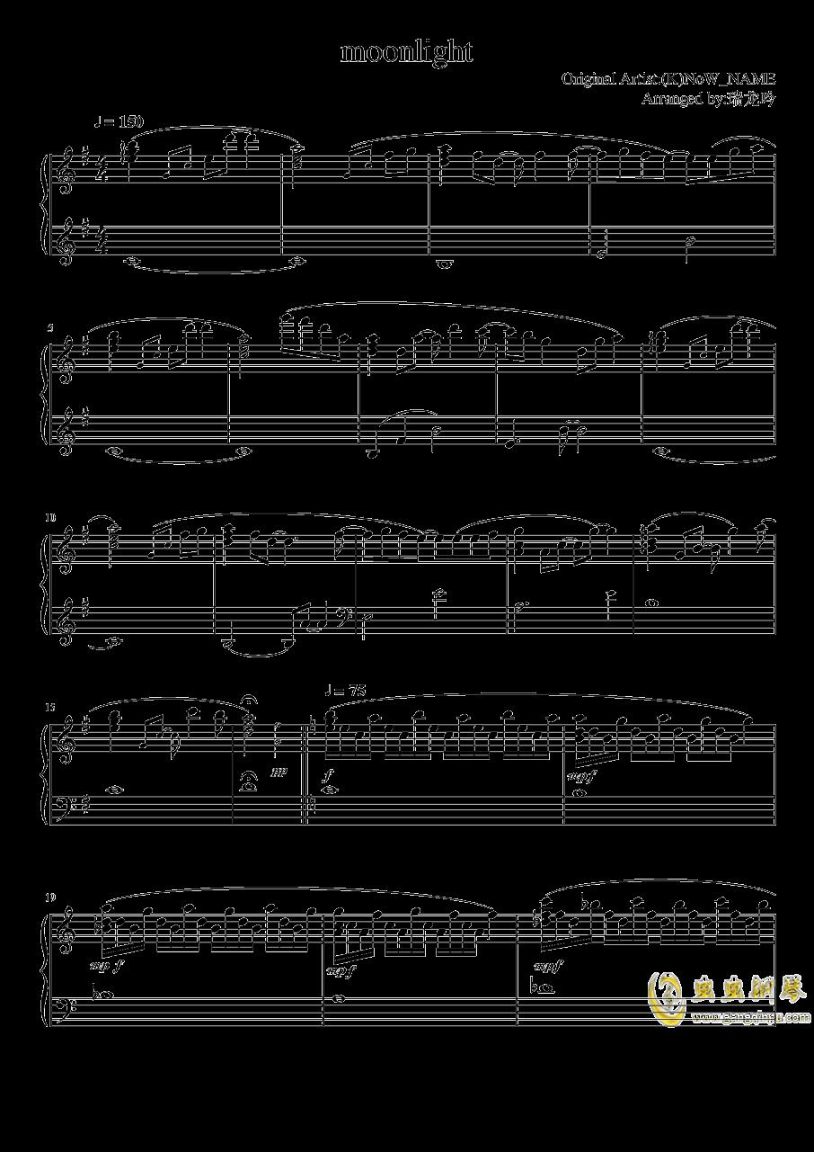 moonlight钢琴谱 第1页