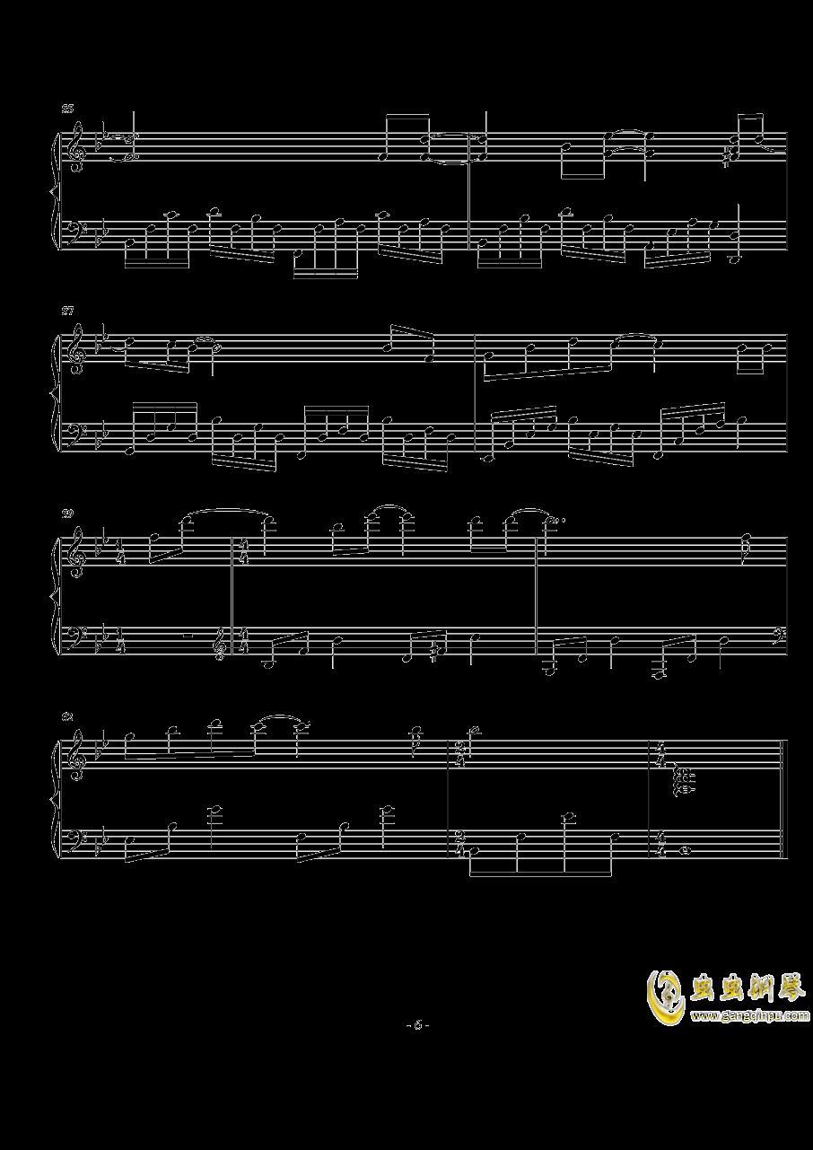 说好不哭钢琴谱 第6页
