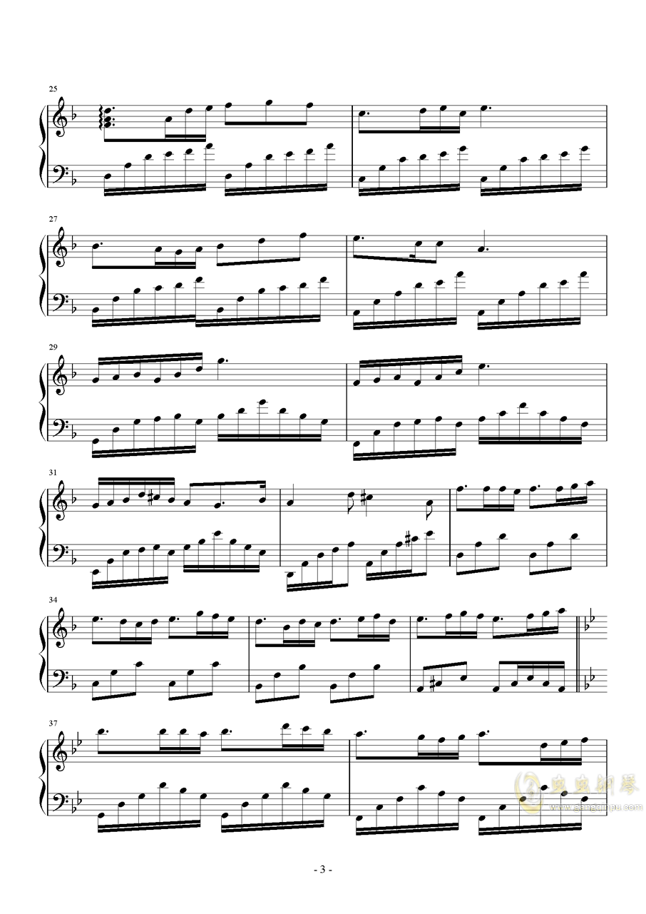 Knight钢琴谱 第3页