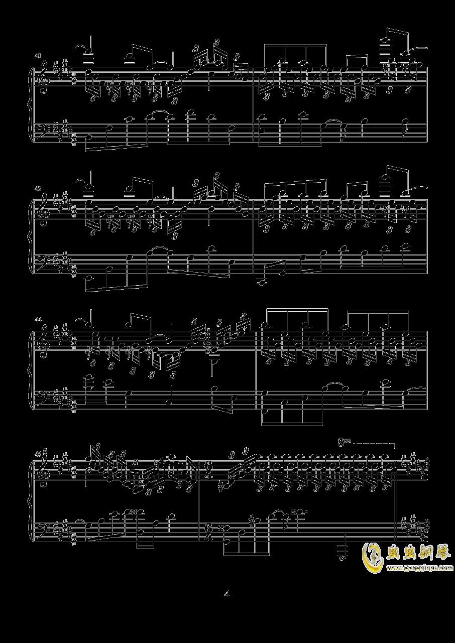 波纹钢琴谱 第4页