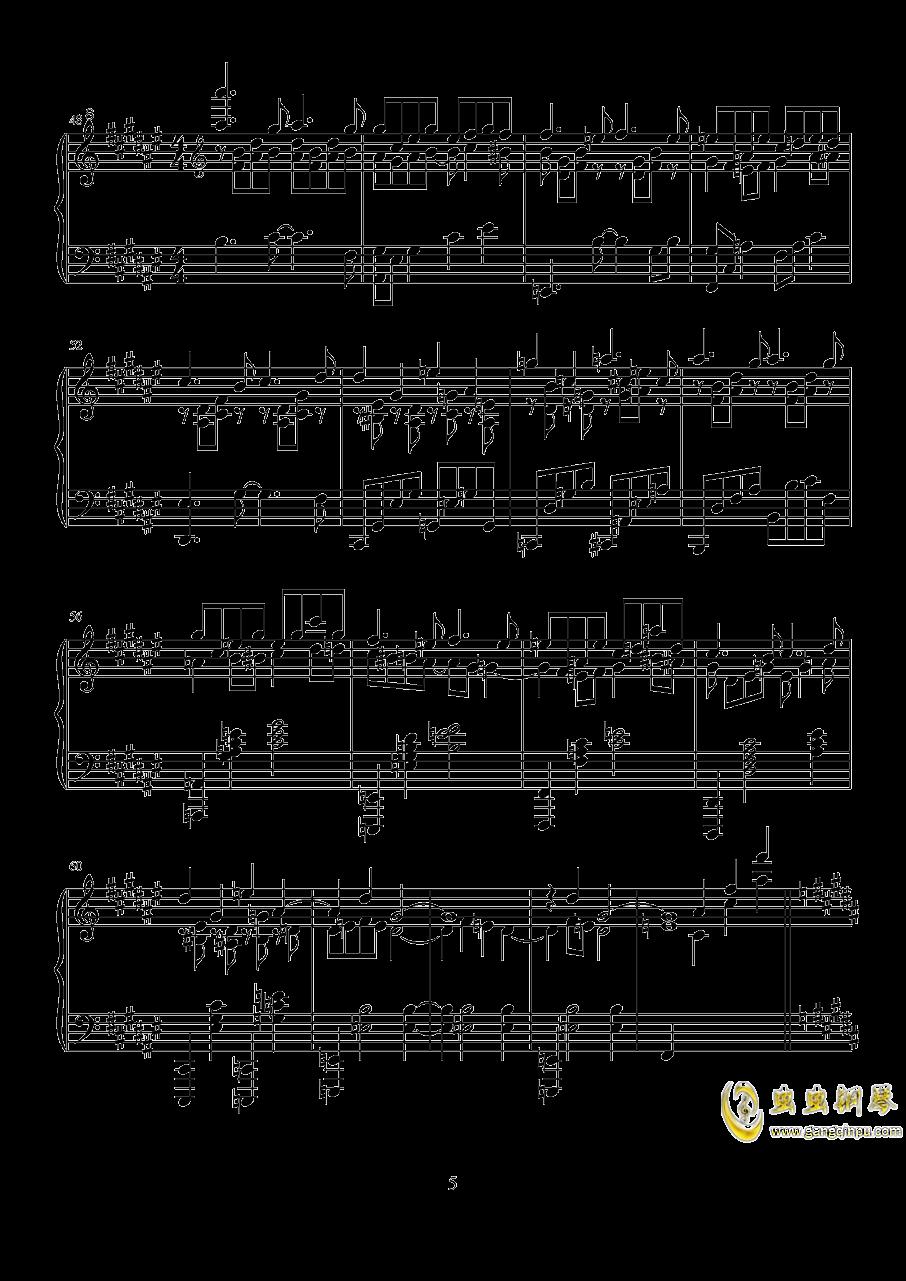 波纹钢琴谱 第5页