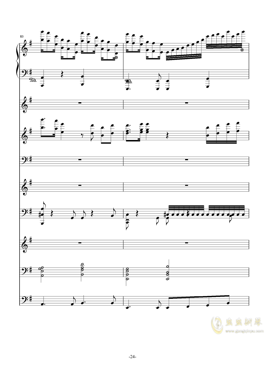 中��第二�狂想曲�琴�V 第24�