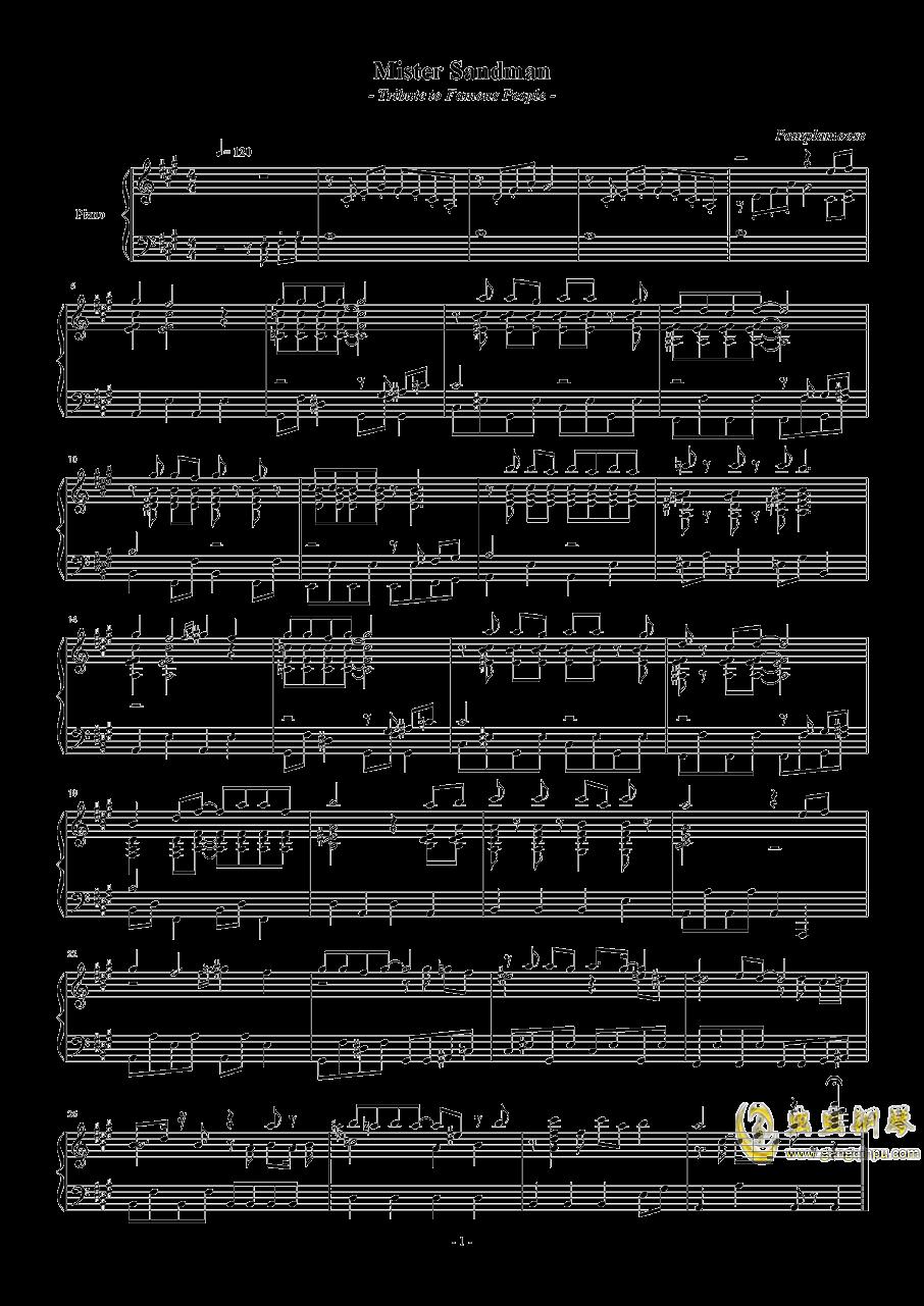 mister sandman钢琴谱 第1页