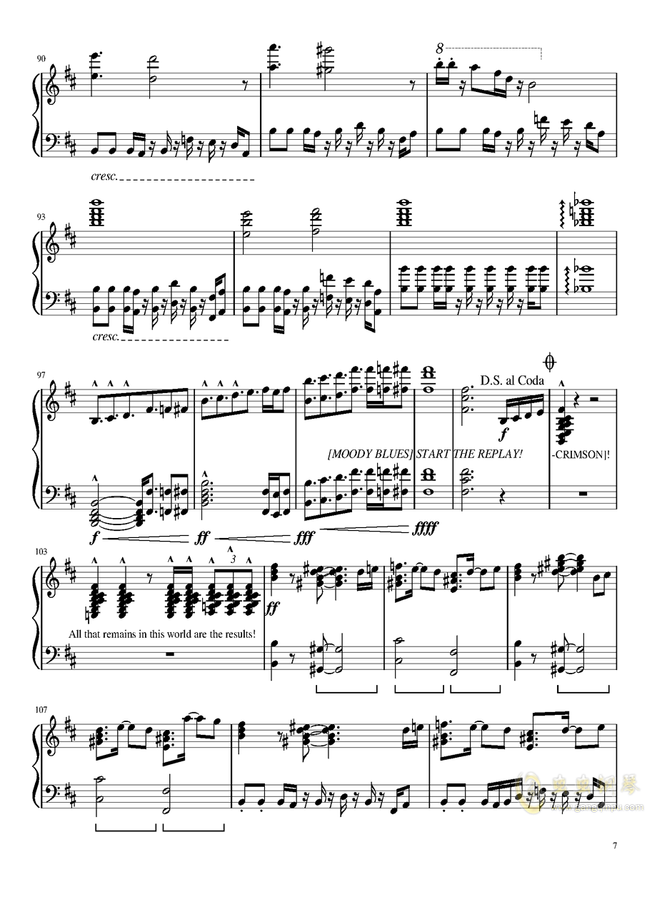 il vento d钢琴谱 第7页
