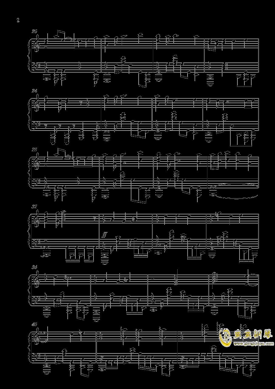 落花劫钢琴谱 第2页