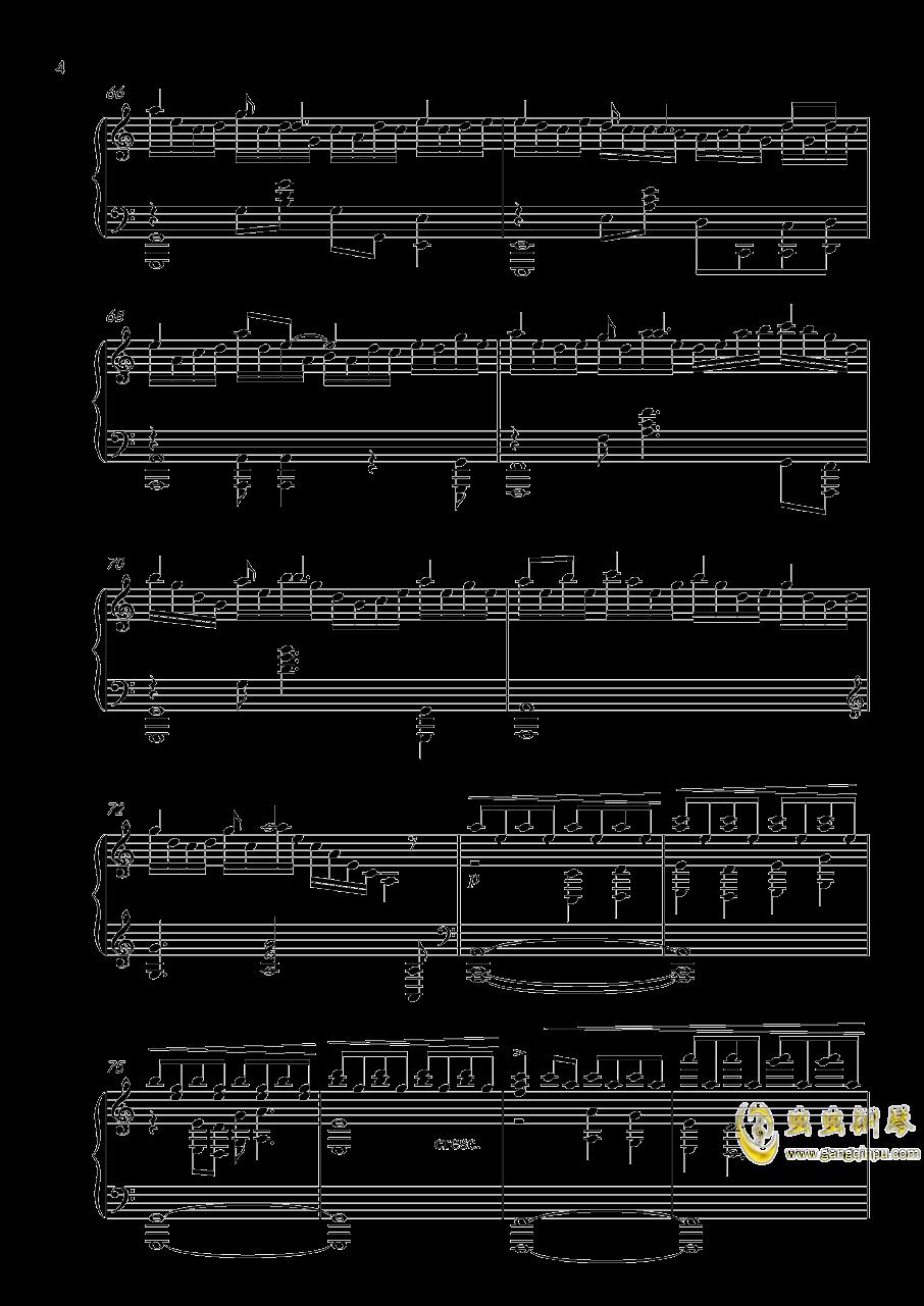 落花劫钢琴谱 第4页