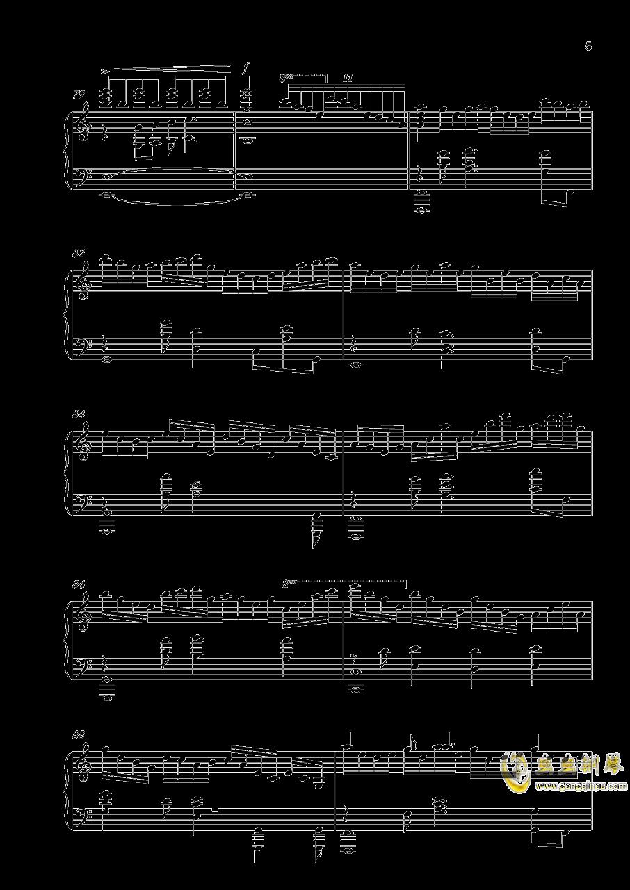 落花劫钢琴谱 第5页