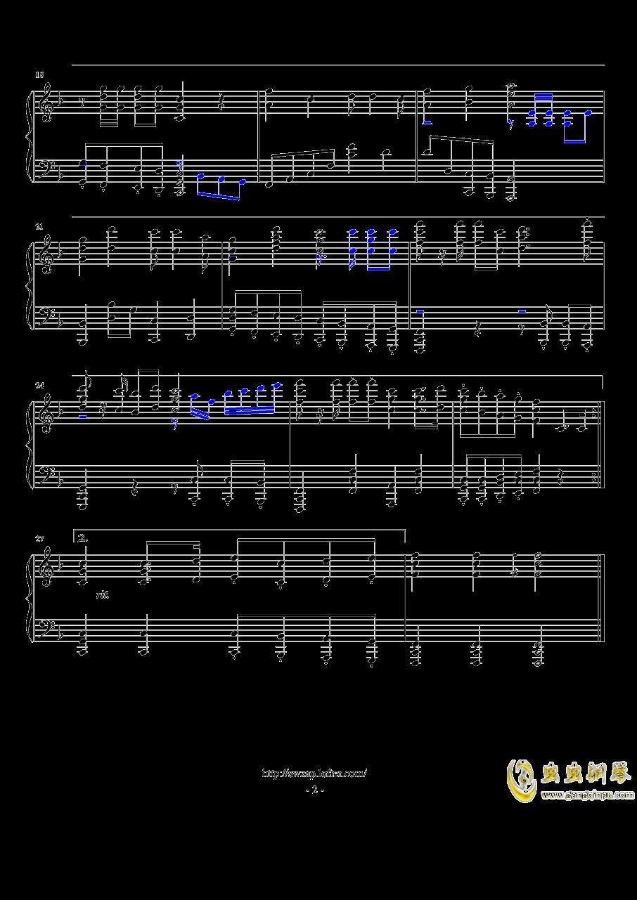 歌唱祖国钢琴谱 第2页