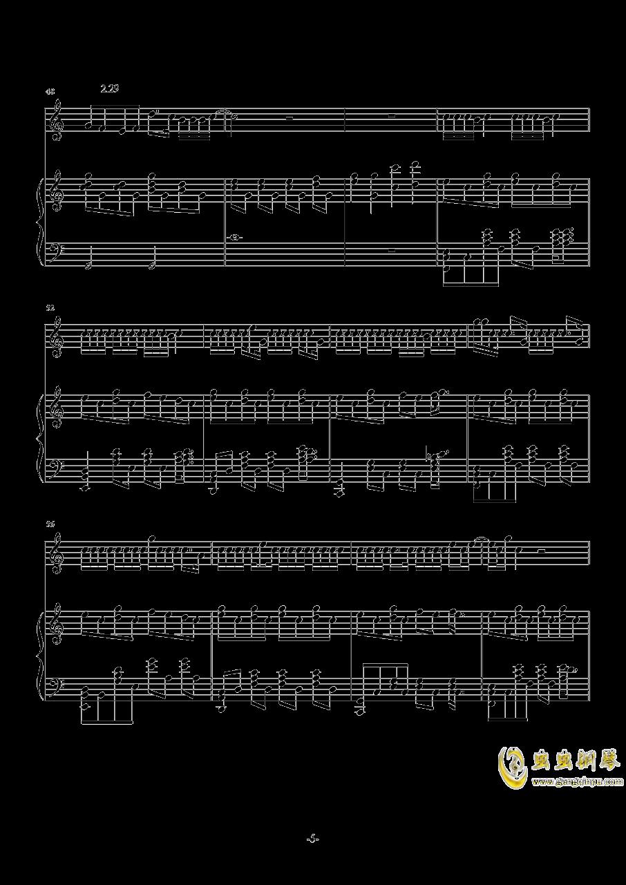 花钢琴谱 第5页