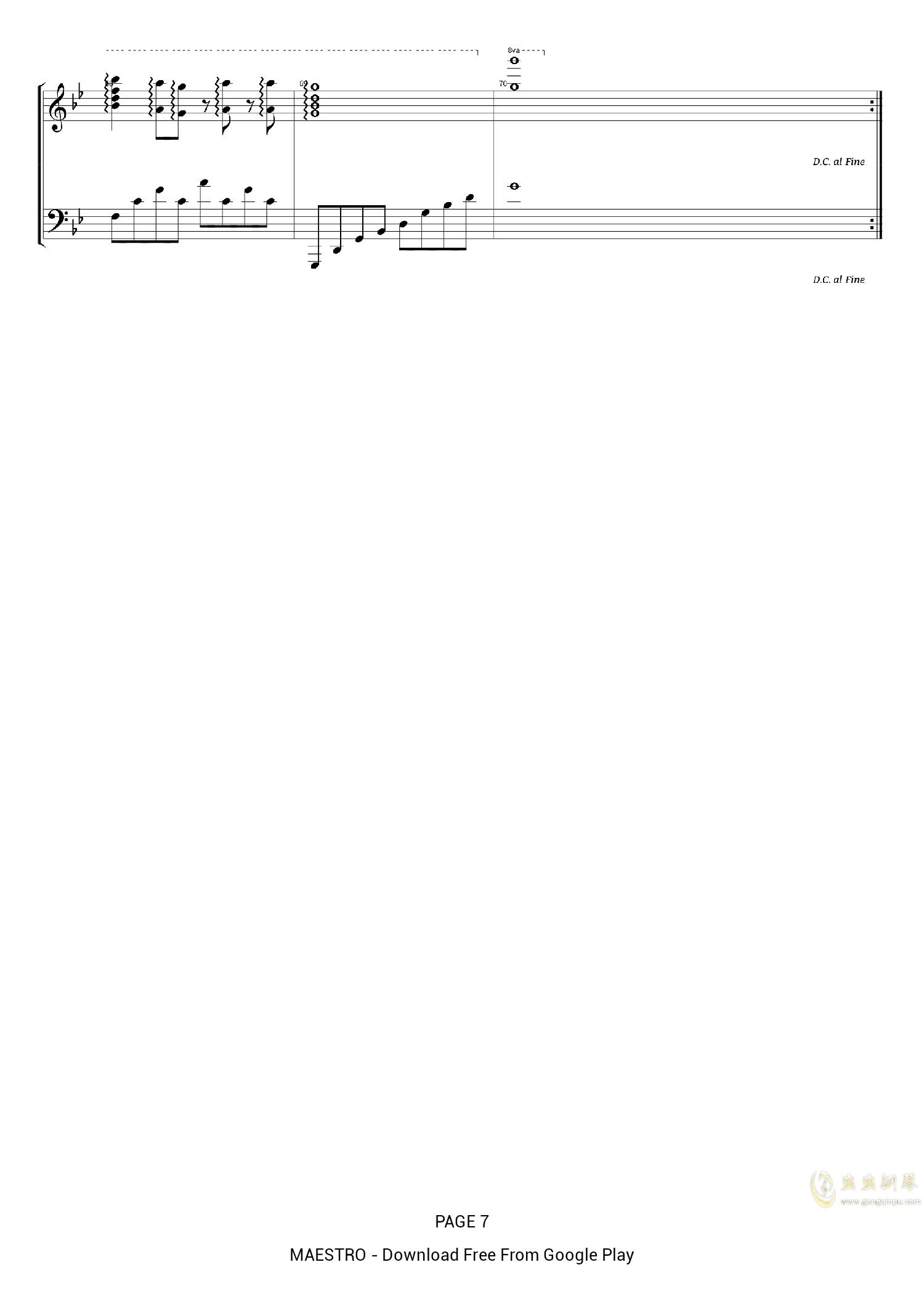 Unravel钢琴谱 第7页