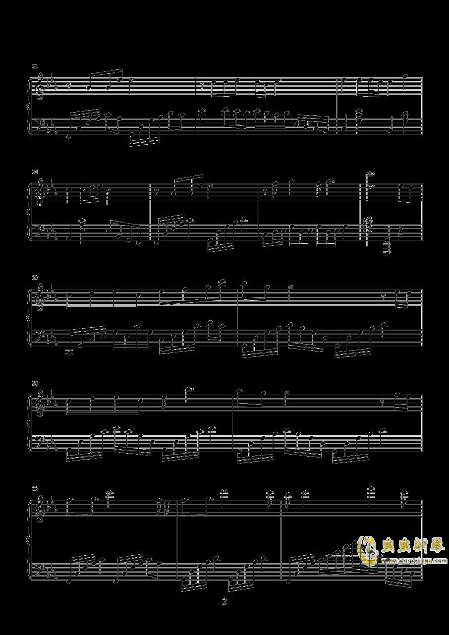荒城渡钢琴谱 第2页