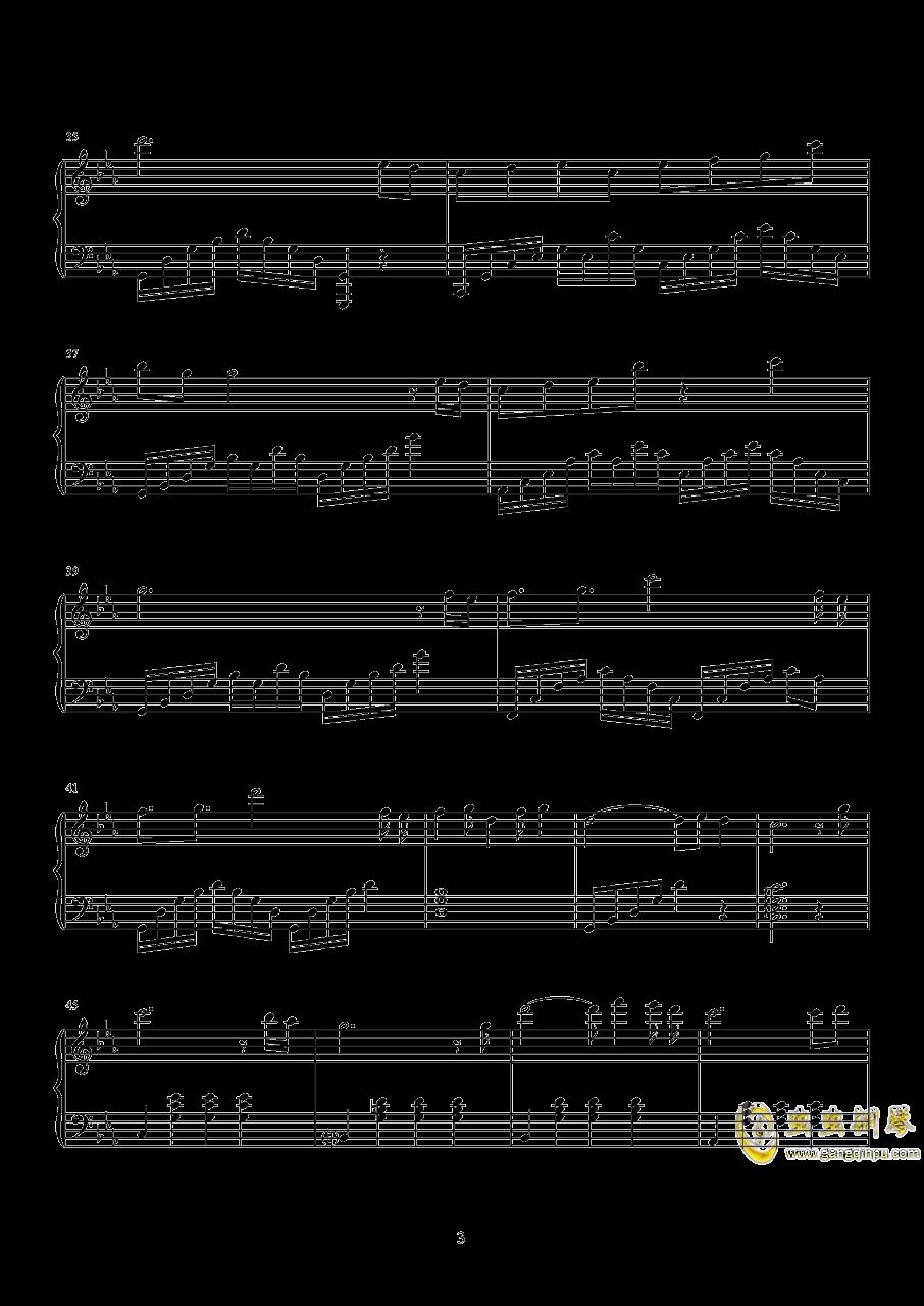 荒城渡钢琴谱 第3页