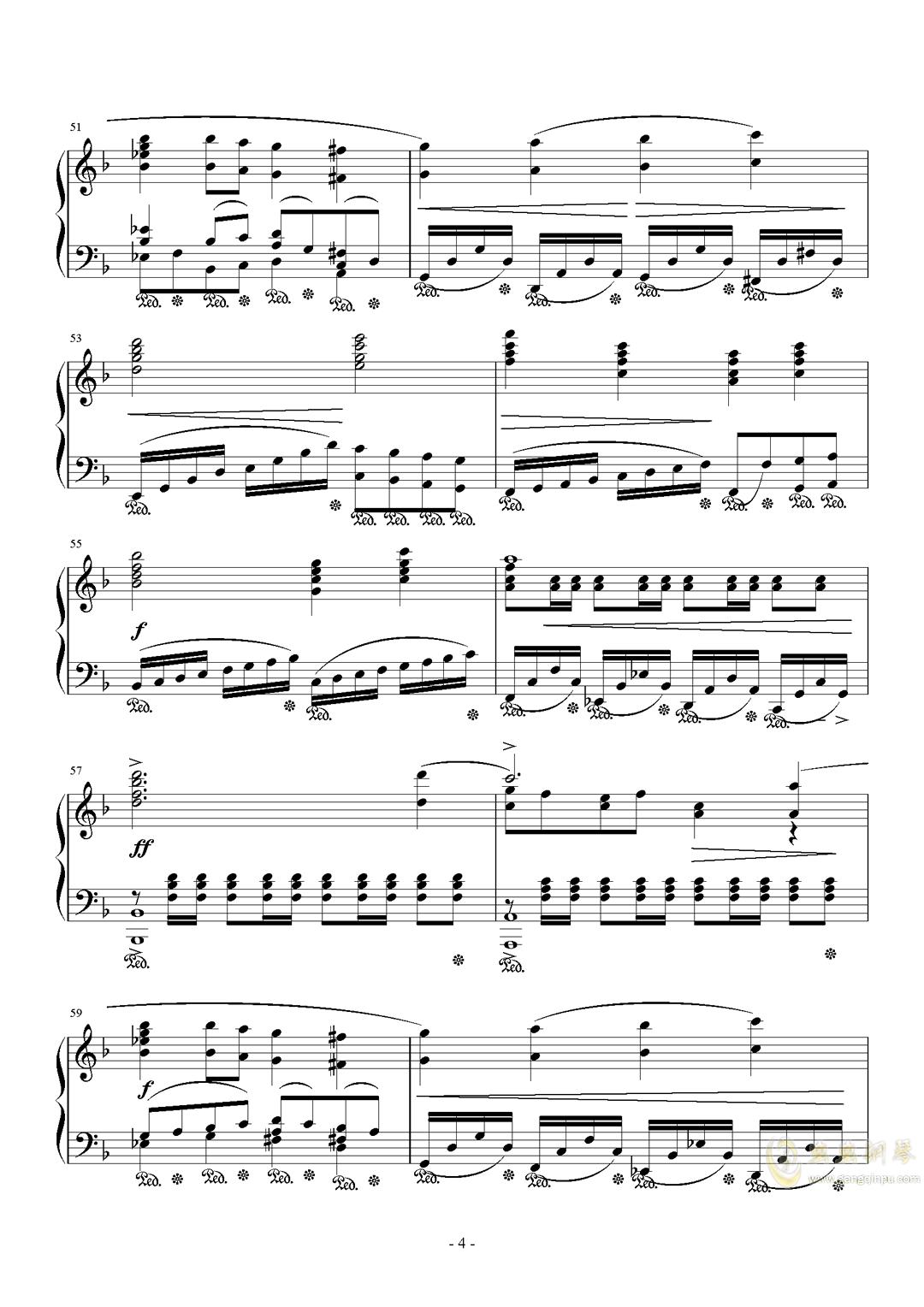 最终幻想历代主题音乐钢琴谱 第4页