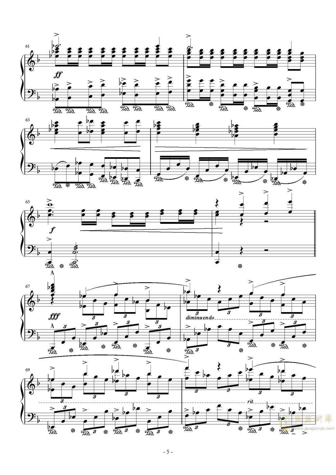 最终幻想历代主题音乐钢琴谱 第5页