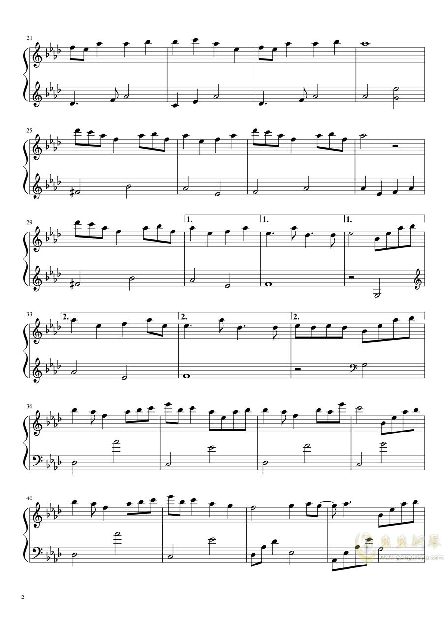 团子大家族(渚)钢琴谱 第2页