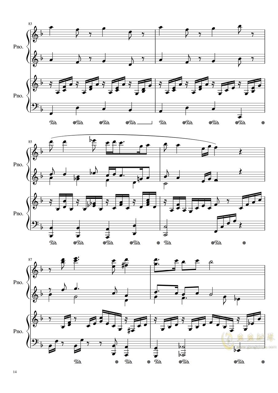 Symphonic Dance NO.1 (未完成)�琴�V 第14�