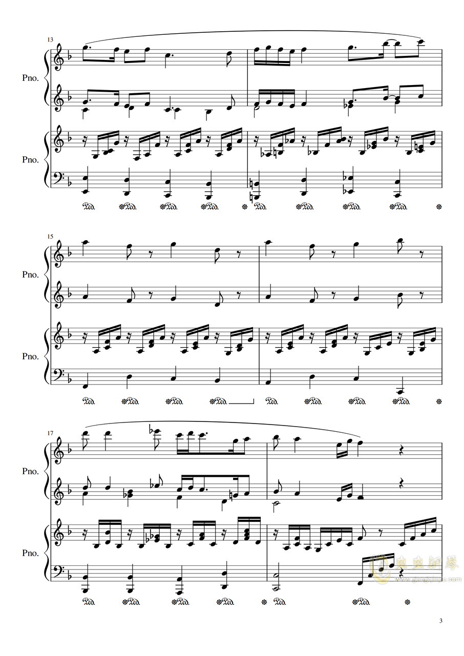 Symphonic Dance NO.1 (未完成)�琴�V 第3�