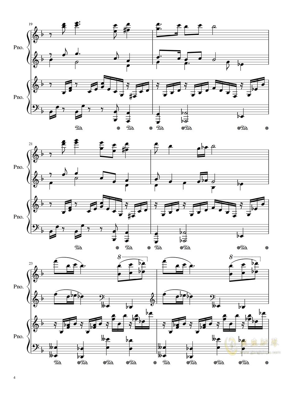 Symphonic Dance NO.1 (未完成)�琴�V 第4�