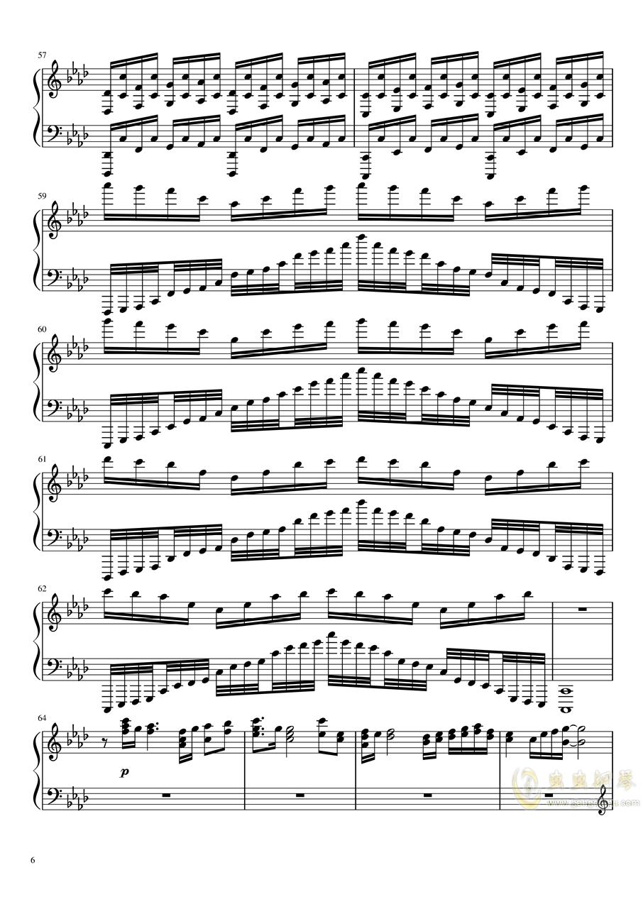 恋与制作人――深渊尽头(无底深渊版)钢琴谱 第6页