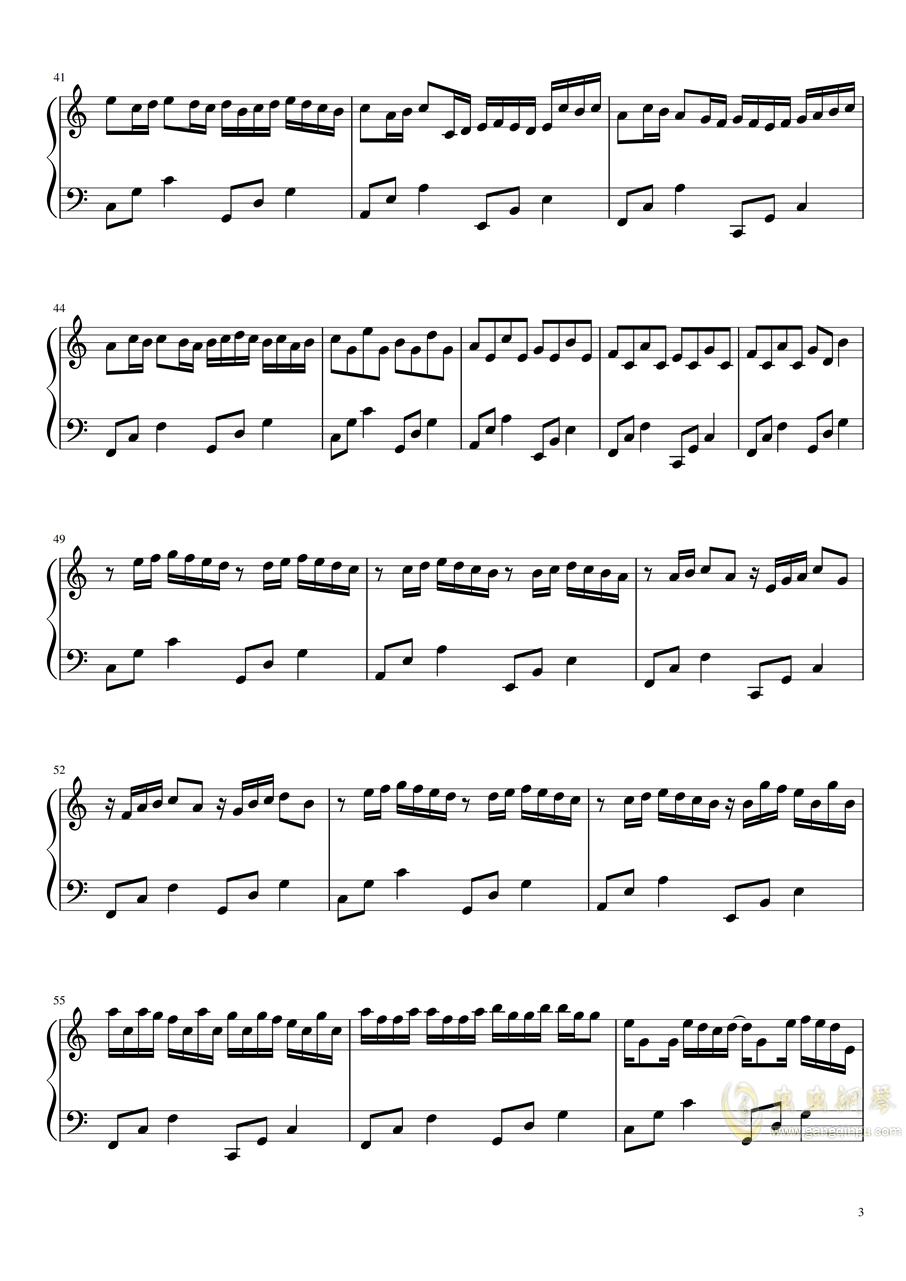 卡农-BiBiPiano温柔版钢琴谱 第3页