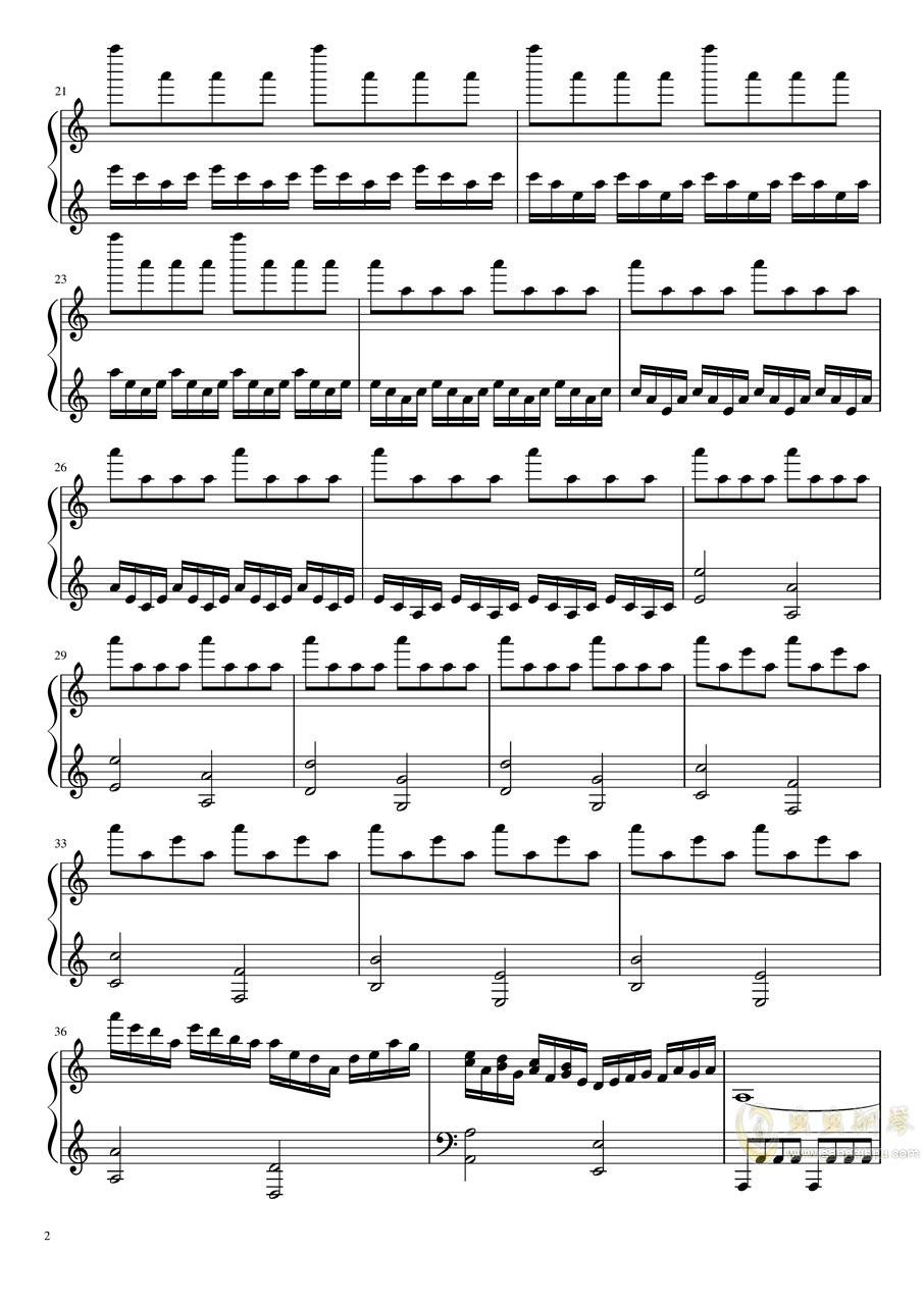 小绿和小蓝――记忆规划局钢琴谱 第2页