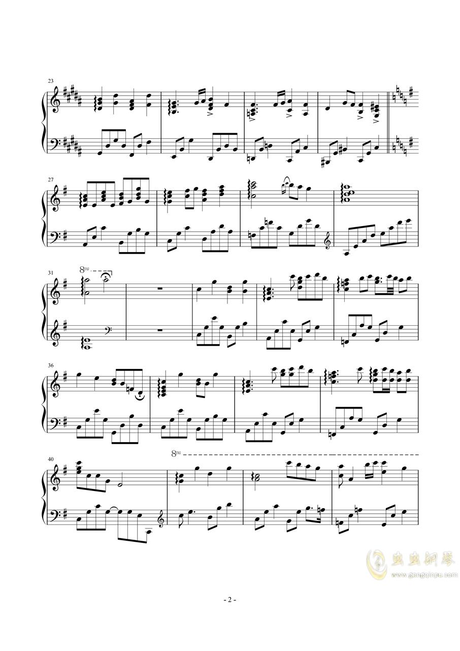 【东方】Piano Serenade.钢琴谱 第2页