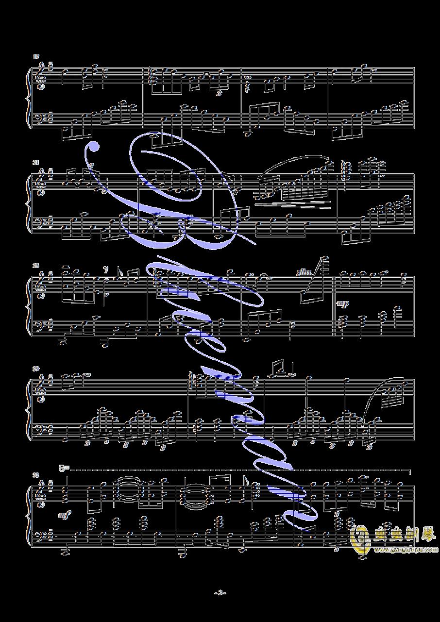 鸿雁钢琴谱 第2页