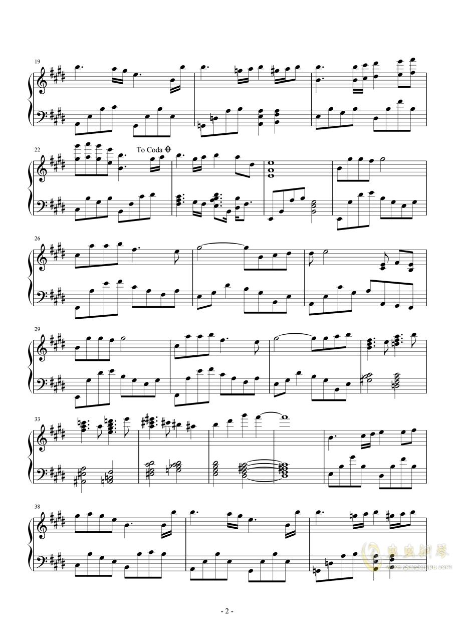 告别回忆8BGM:Like Light Snow钢琴谱 第2页