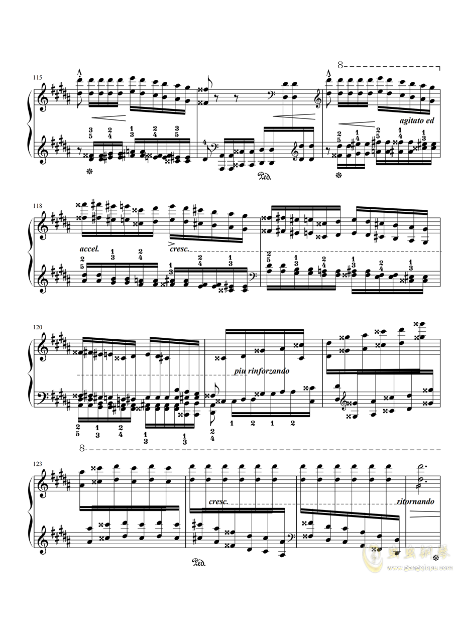 李斯特-�钢琴谱 第13页