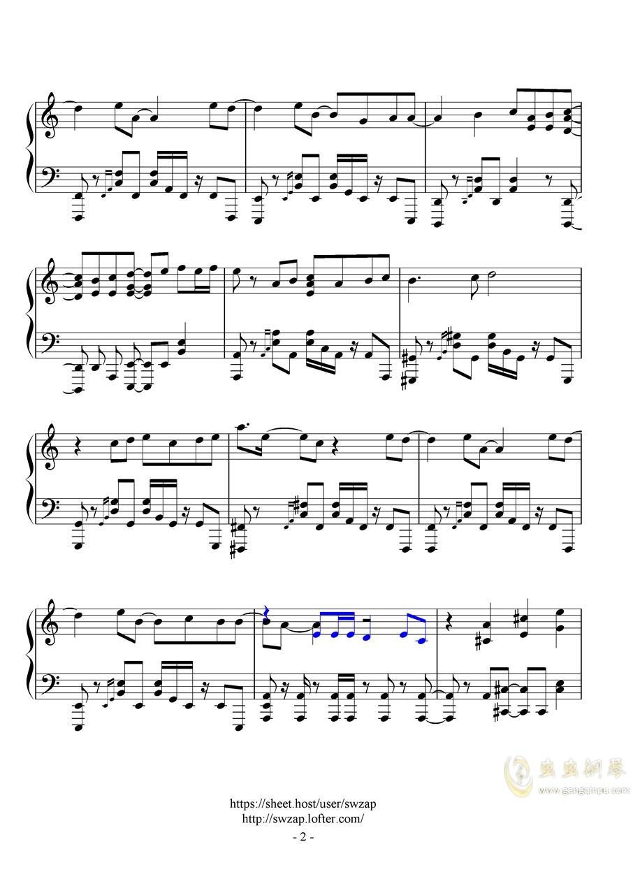 ムズイ(《22/7》OP)钢琴谱 第2页