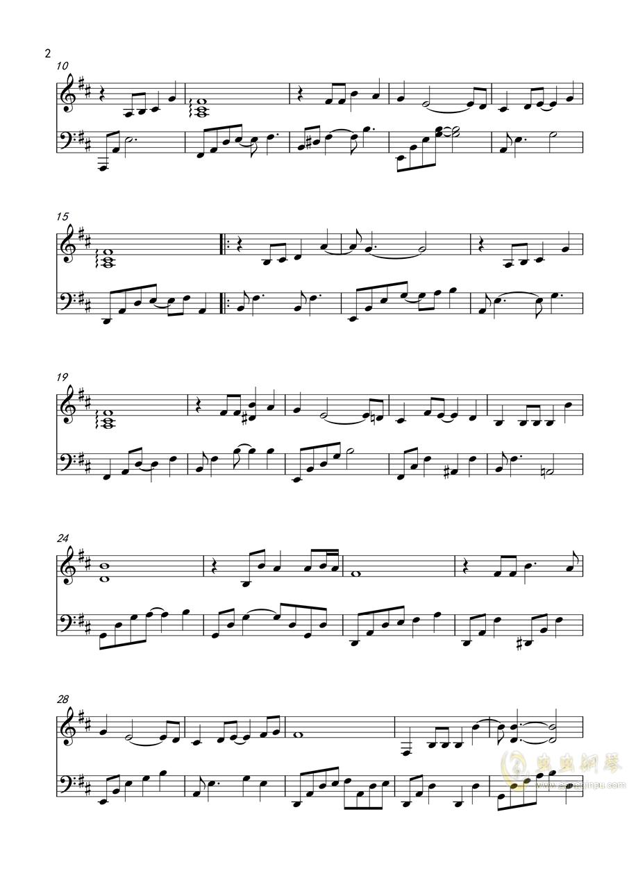 f调贝加尔湖畔钢琴谱 贝加尔湖钢琴伴奏谱图片