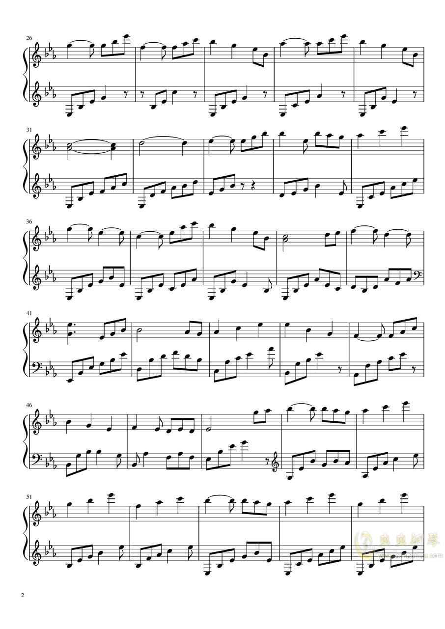 拉三赋格钢琴谱 第2页