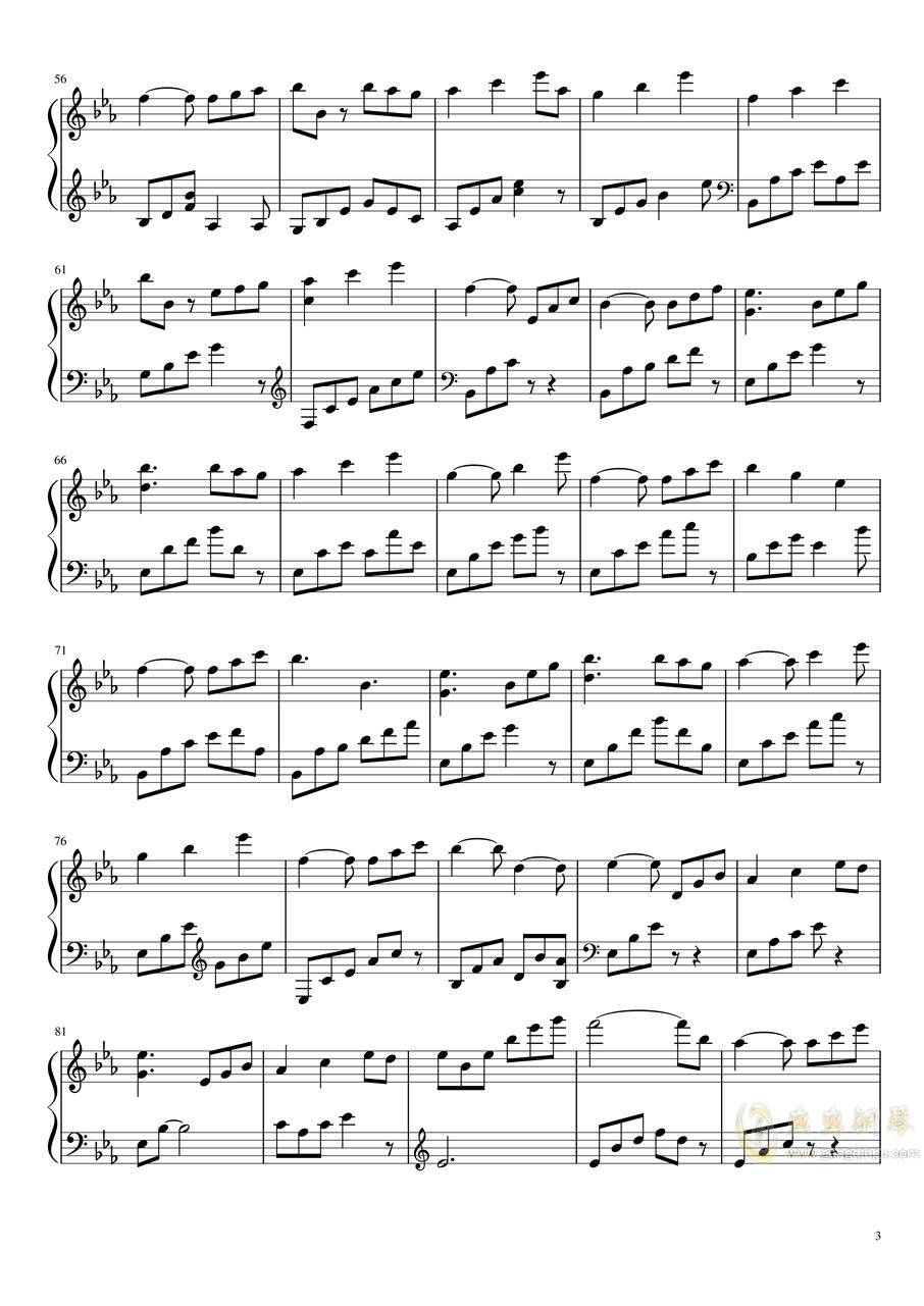 拉三赋格钢琴谱 第3页