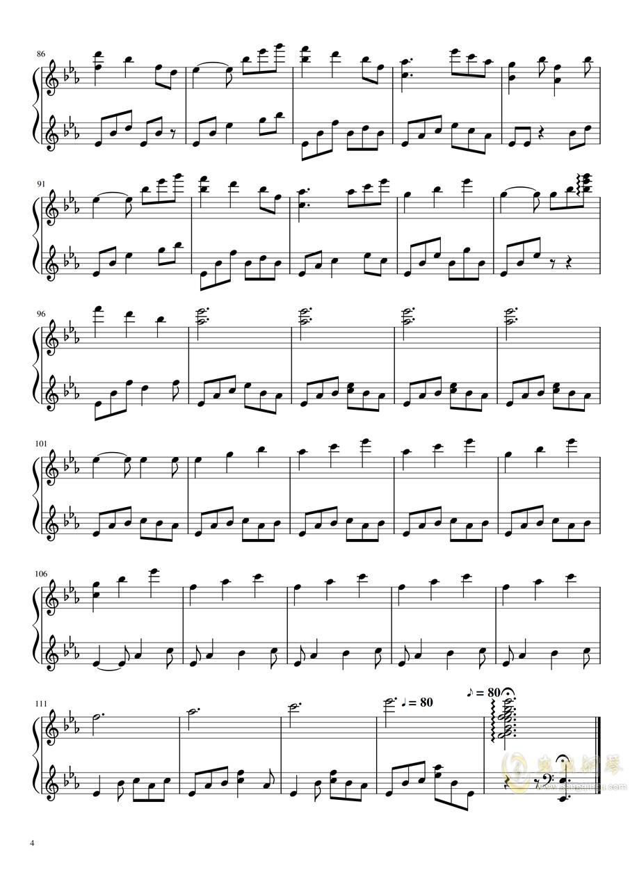 拉三赋格钢琴谱 第4页
