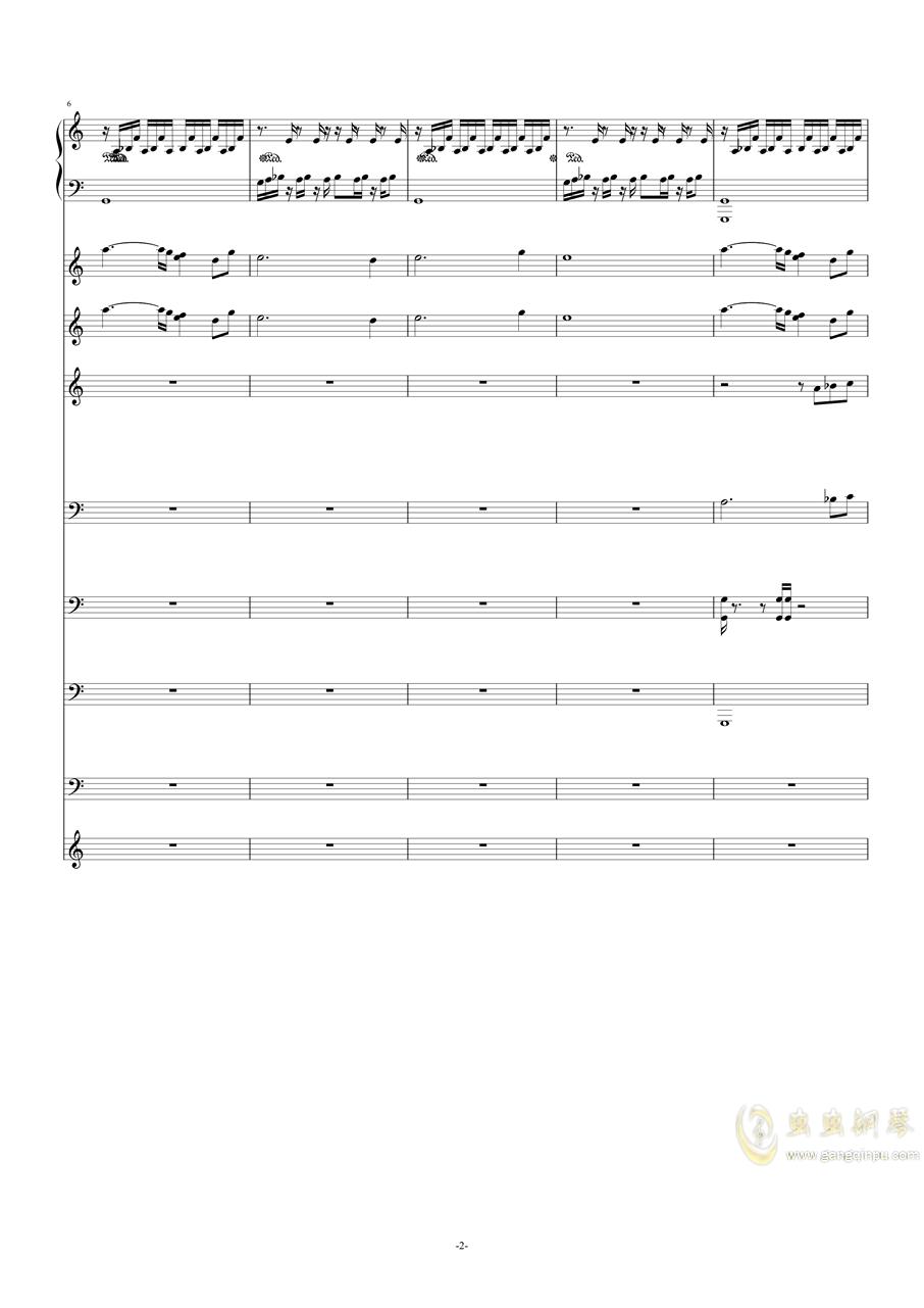 作品集《钢琴与弦乐》之――g小调(试听版)钢琴谱 第2页