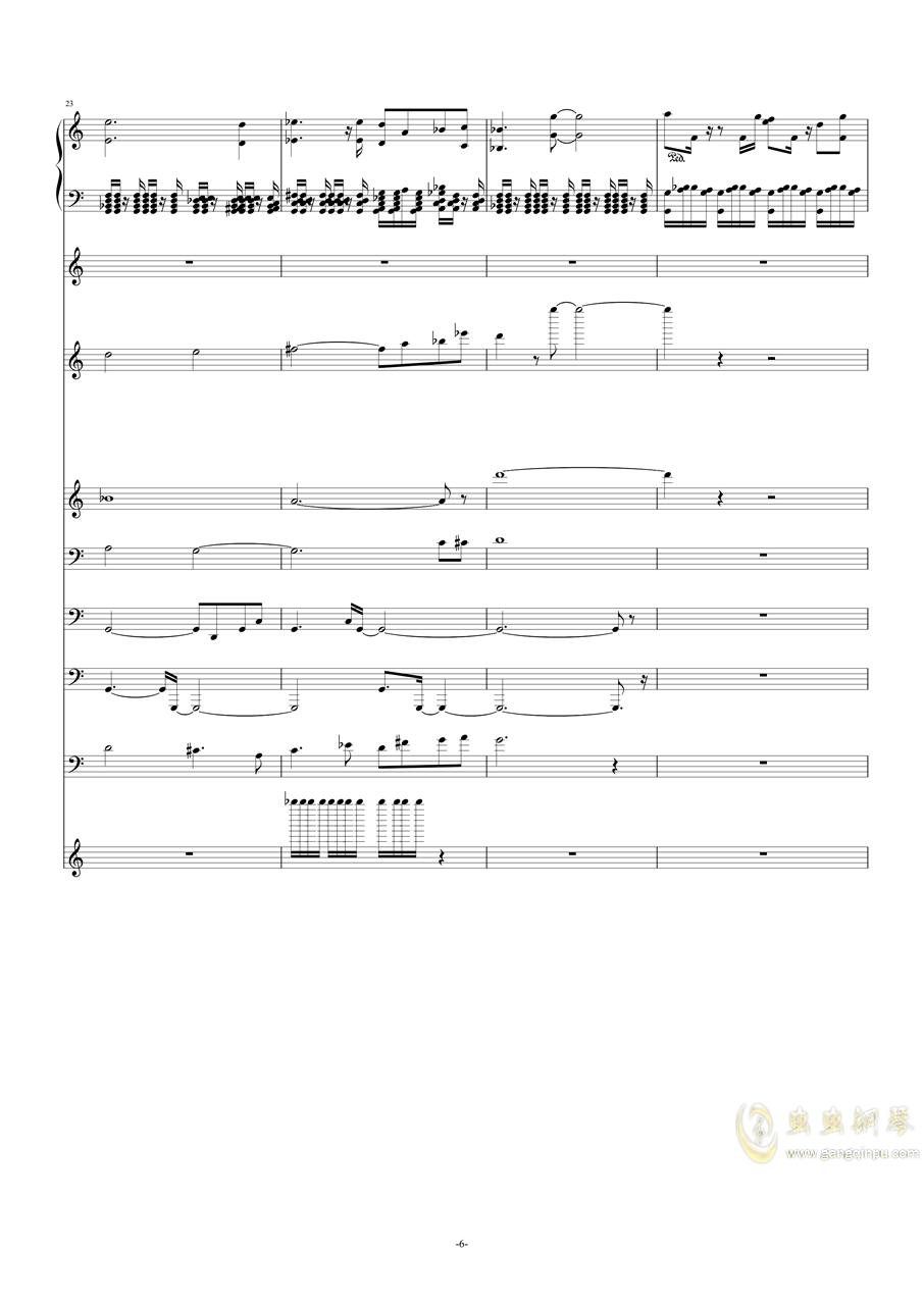作品集《钢琴与弦乐》之――g小调(试听版)钢琴谱 第6页