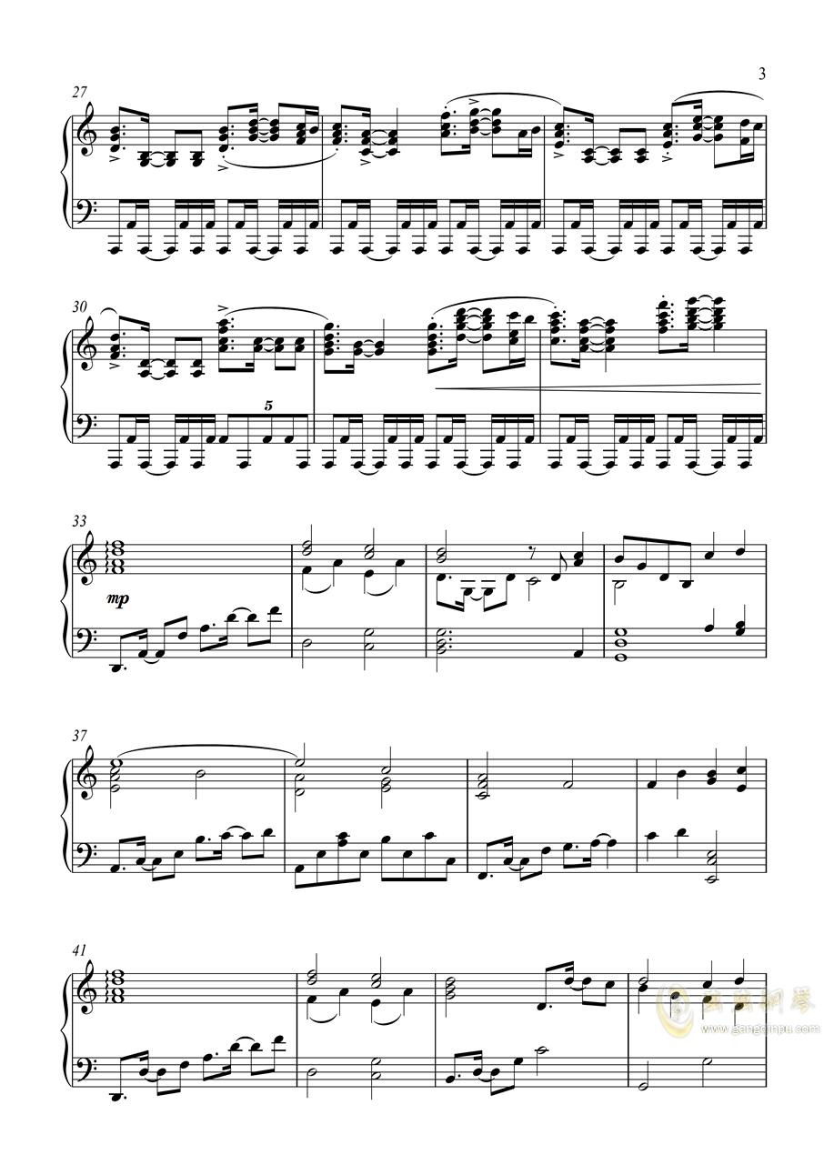 皇牌空战0 - Zero钢琴谱 第3页