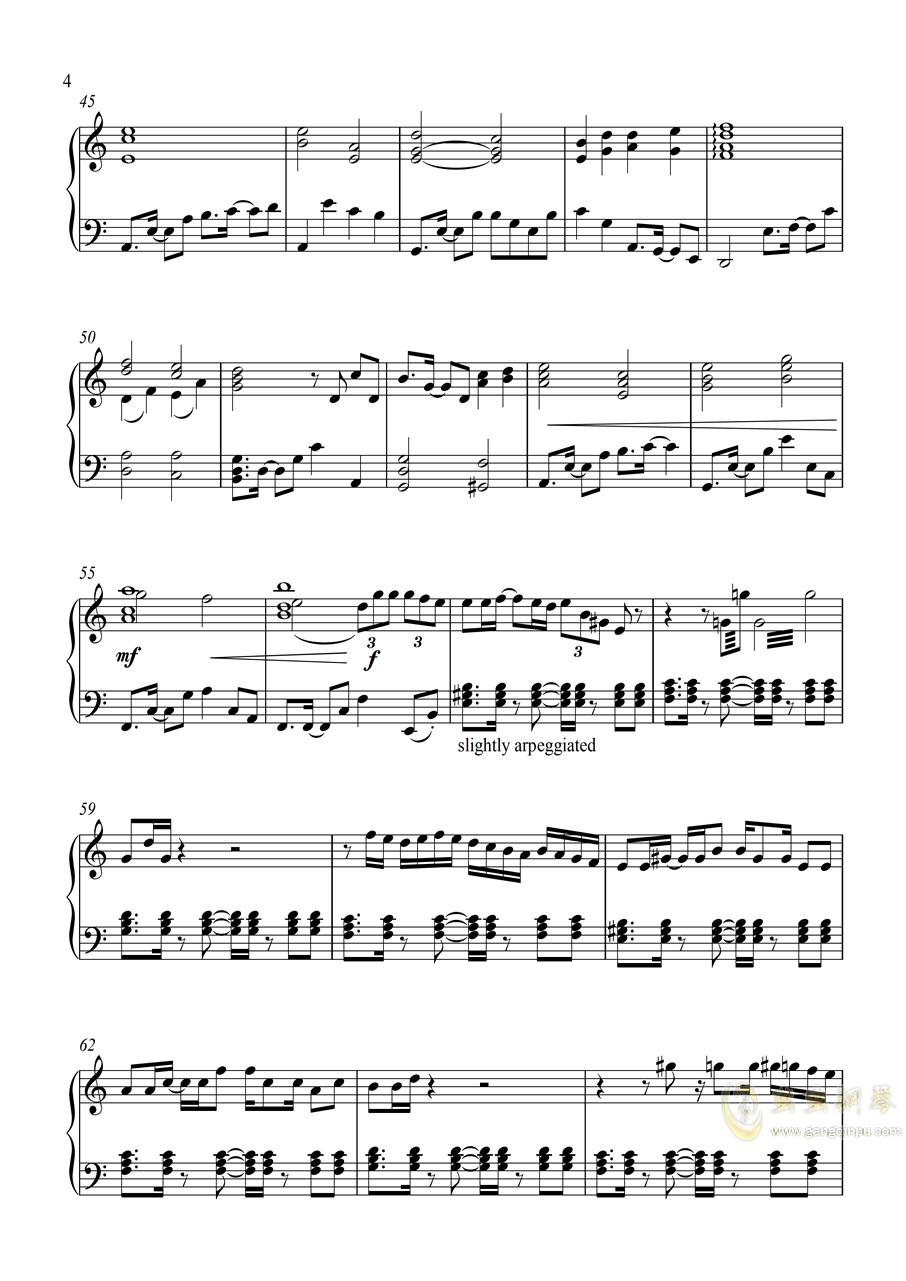 皇牌空战0 - Zero钢琴谱 第4页