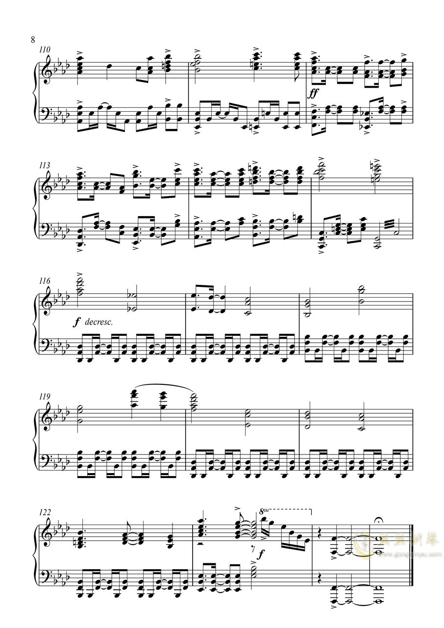 皇牌空战0 - Zero钢琴谱 第8页