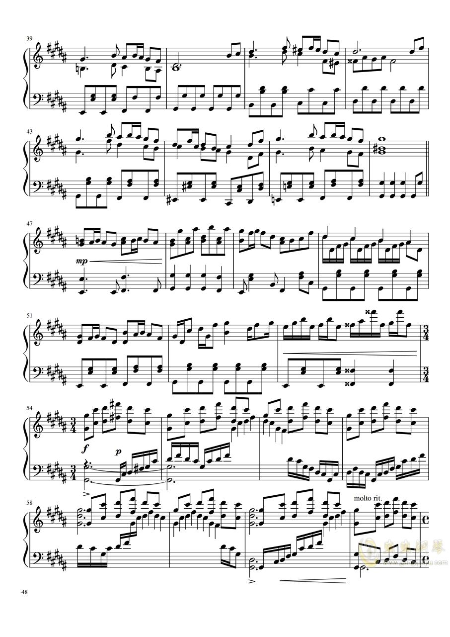 【东方project】永夜抄全曲钢琴谱 第48页