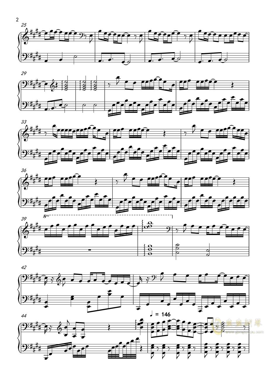 你的名字x天气之子钢琴谱 第2页