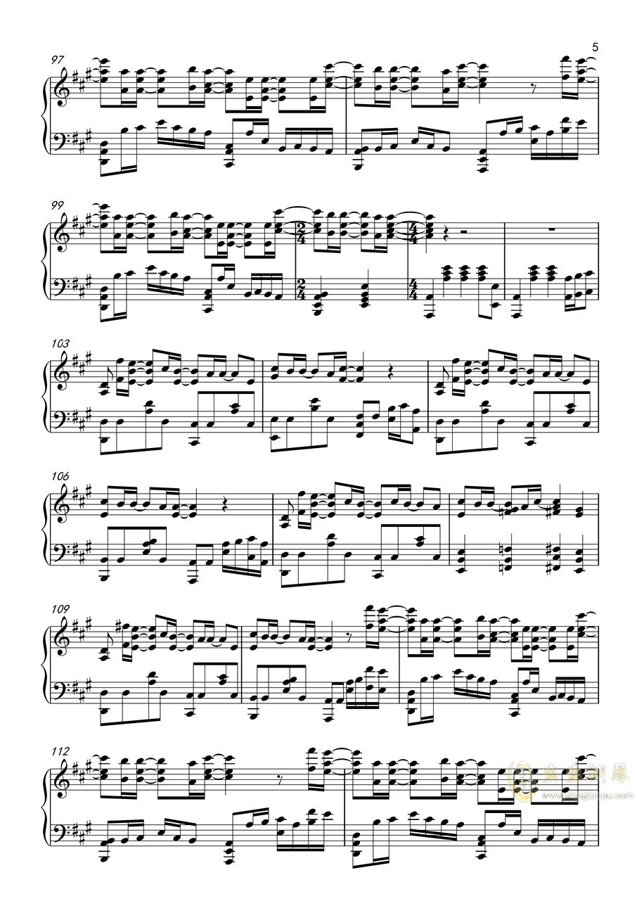 你的名字x天气之子钢琴谱 第5页