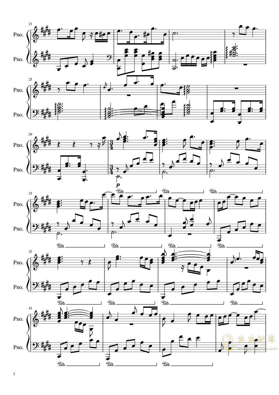 waltz on a rainy day�琴�V 第2�