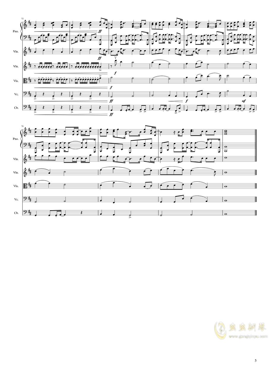 all falls down钢琴谱 第5页